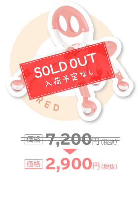 RED 価格2,900円(税抜)SOLD OUT